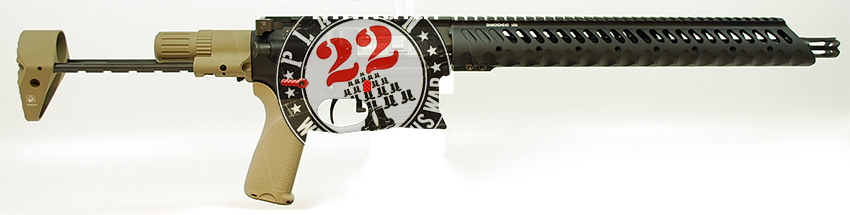Custom H-TAC AR-15 to Benefit Platoon22